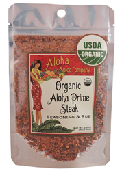 Organic Aloha Prime Steak Rub & Seasoning 2.5 oz. Stand Up Pouch