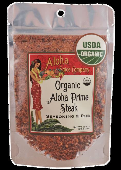 Aloha Spice Company - Organic Aloha Prime Steak Seasoning & Rub - Stand Up Pouch