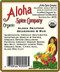 Aloha Spice Company - Organic Aloha Seafood Seasoning and Rub - Ingredients