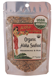 Aloha Spice Company - Organic Aloha Seafood Seasoning and Rub - Stand-up Pouch