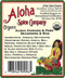 Aloha Spice  Company - Organic Aloha Chicken & Pork Rub & Seasoning - Ingredients