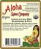 Aloha Spice Organic Lu'au BBQ Seasoning and Rub Ingredients