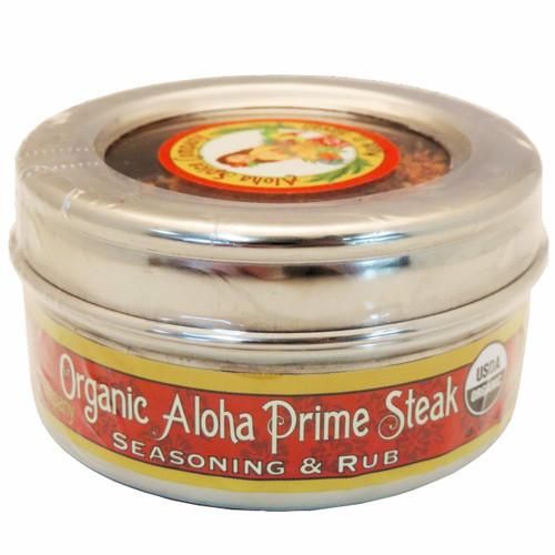 Organic Aloha Prime Steak Rub & Seasoning 3.6 oz. Stainless Steel Tin