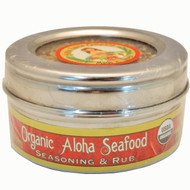 Organic Aloha Seafood Rub & Seasoning 3.5 oz. Stainless Steel Tin