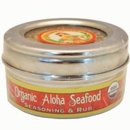 Organic Aloha Seafood Rub & Seasoning 3.5 oz. Stainless Steel Tin