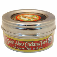 Organic Aloha Chicken & Pork Rub & Seasoning 3.1 oz. Stainless Steel Tin