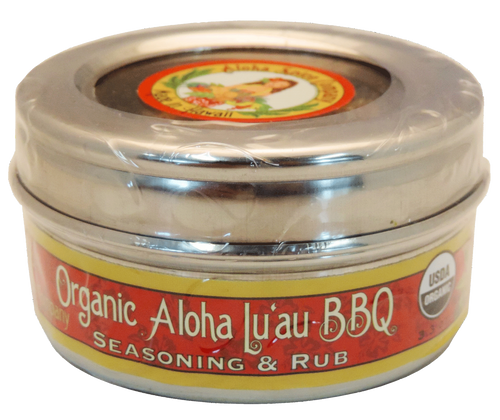 Organic Aloha Lu`au BBQ Rub & Seasoning 3.3 oz. Stainless Steel Tin