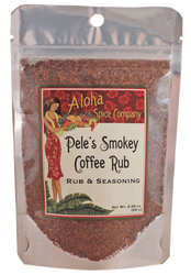 Pele's Smokey Coffee Rub & Seasoning 2.89 oz. Stand Up Pouch