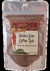Uncle's Lu`au Coffee Rub & Seasoning - 2.4 oz. Stand Up Pouch