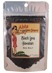 Black Lava Hawaiian Sea Salt - 4.23 Oz. Stand Up Pouch