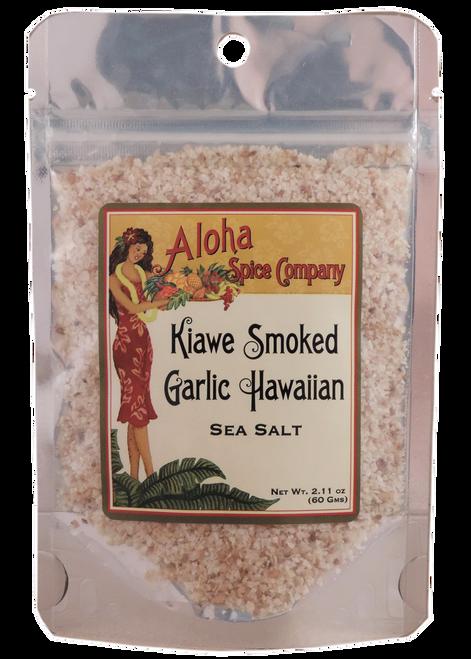 Kiawe Smoked Garlic Hawaiian Sea Salt - 2.11 oz. Stand Up Pouch