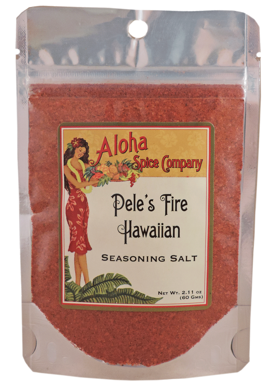 Pele's Fire Hawaiian Seasoning Salt 2 11 oz  Stand Up Pouch