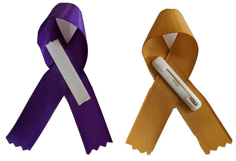 Awareness Ribbon with pins