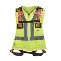 Delta Plus HAR12GIL 2 Point Body Harness with Hi Vis Vest
