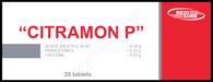 CITRAMON P®, (aka Chephapyrin, Dolopyrin, Melabon, Neuralgin) 20pills/pack
