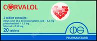 CORVALOL®, (aka Kopbanon, Corvalolum, Korvalol), 20pills/pack