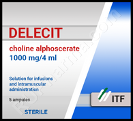 DELECIT®, (Choline Alfoscerate, Gliatilin), 5 ampoules/pack, 1000 mg(4ml)/ampoule