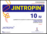 JINTROPIN®, 5 ampuls/pack, 10IU/ampul, 50IU ready-to-use kit