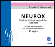 NEUROX®, (Mexifin), 10 ampoules/pack, 2 ml(50mg)/ampoule