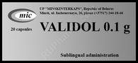 VALIDOL®, (aka Validolum, Valofin, Menthoval, Menthyl isovalerate) 20pills/pack, 100mg/pill