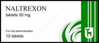 NALTREXONE® (aka ReVia, Vivitrol), 10 pills/pack, 50mg/pill