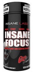 INSANE FOCUS® Concentration + Energy, 120caps/pack, 762mg/cap