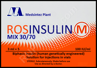 ROSINSULIN M MIX®, 30 Regular/70 NPH, 100UI/ml, 3ml/vial, 5vials/pack