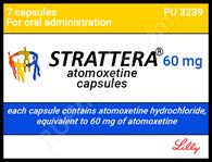 STRATTERA® (aka Atomoxetine), 7caps/pack, 40mg/cap