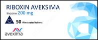 RIBOXIN® (aka Inosine) , 50tab/pack, 200mg/tab