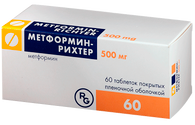 METFORMIN® (Glucophage), Immediate Release (IR) and Prolonged Release (XR), 500-1000 mg/tab, 30-60 tabs/pack