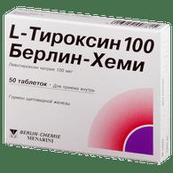 L-THYROXINE (aka Levothyroxine), 50-150mcg/tab, 50-100tabs/pack