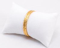YELLOW GOLD BABY BANGLE, 21K-YGBABY002, Size: Baby, Weight: 11.1g