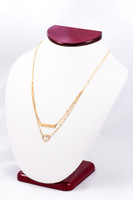 YELLOW GOLD NECKLACE, YG21KNECKLACE017, Size:Large, Weight:0g