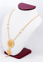 YELLOW GOLD NECKLACE, YG21KNECKLACE025, Size:Large, Weight:0g