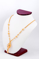 YELLOW GOLD NECKLACE, YG21KNECKLACE035, Size:Large, Weight:0g