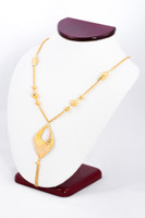 YELLOW GOLD NECKLACE, YG21KNECKLACE037, Size:Large, Weight:0g