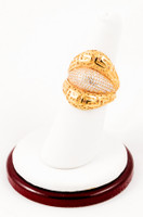 Yellow Gold Ring 21K, YGRING0009, Weight: 6.5g