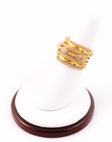 Yellow Gold Ring 21K, YGRING0011, Weight: 7.1g