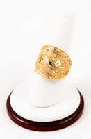 Yellow Gold Ring 21K, YGRING0015, Weight: 7.2g