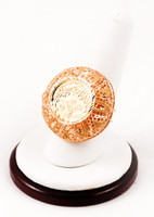 Yellow Gold Ring 21K, YGRING0020, Weight: 7.2g