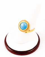 Yellow Gold Ring 21K, YGRING0029, Weight: 8.3g