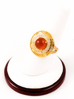 Yellow Gold Ring 21K, YGRING0030, Weight: 6.2g