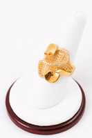 Yellow Gold Ring 21K, YGRING0053, Weight: 0g