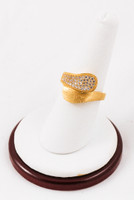 Yellow Gold Ring 21K, YGRING0055, Weight: 6.6g
