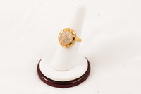 Yellow Gold Ring 21K, YGRING0058, Weight: 0g