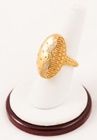 Yellow Gold Ring 21K, YGRING0062, Weight: 7.7g