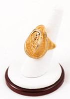 Yellow Gold Ring 21K, YGRING0064, Weight: 5.6g