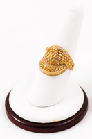 Yellow Gold Ring 21K, YGRING0065, Weight: 4.6g