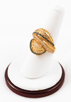Yellow Gold Ring 21K, YGRING0069, Weight: 5.7g