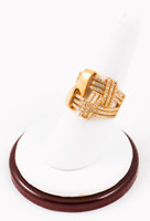 Yellow Gold Ring 21K, YGRING0073, Weight: 6.6g